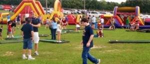 School carnivals require liability insurance for bounce houses.